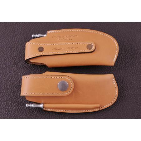 Etui de ceinture en cuir fauve spécial Capuchadou 12 cm