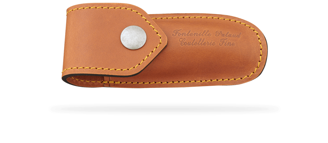 Belt leather sheath for Capuchadou 10 cm knife